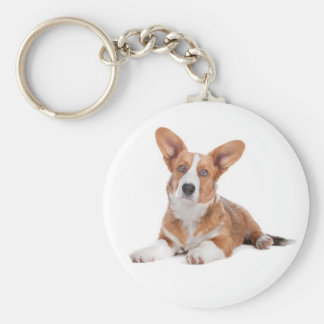 Cardigan Welsh Corgi Puppy Dog Keychain