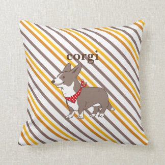 cardigan welsh corgi throw pillow