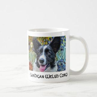 Cardigan Welsh Corgi Van Gogh Irises Mug