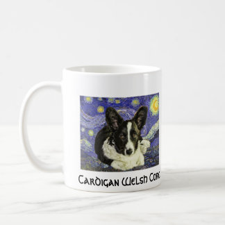 Cardigan Welsh Corgi Van Gogh Starry Night Mug