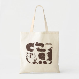 cardigan welsh corgi various sleeping phase tote bag