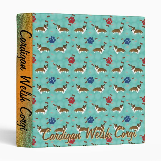 Cardigan Welsh Corgi Vinyl Binders