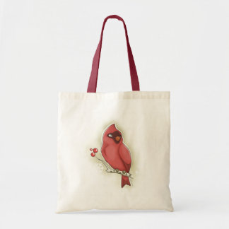 Cardinal and cranberry tote