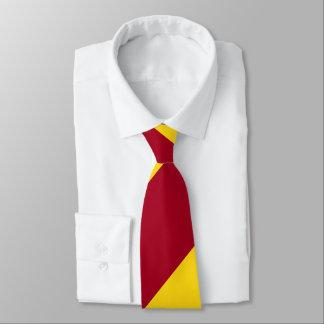 Cardinal and Gold Broad Regimental Stripe Tie