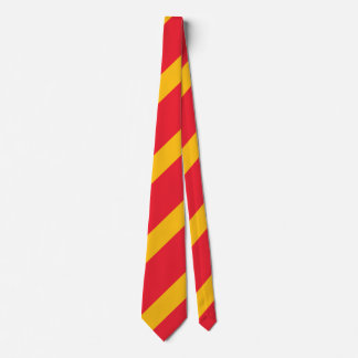 Cardinal and Gold Regimental Stripe Tie