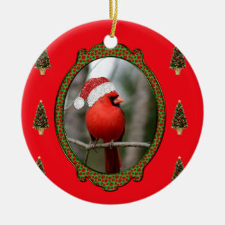 Cardinal and Trees Ornament