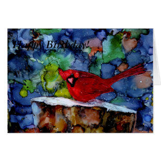Cardinal At Night Card