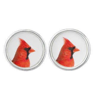 Cardinal Bird Cuff Links
