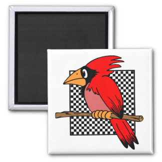 CARDINAL BIRD  DESIGN MAGNET