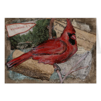 Cardinal Bird painting Card
