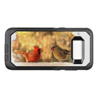 Cardinal Birds in Autumn OtterBox Galaxy S8 Case