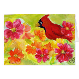 Cardinal Birthday Card