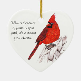 Cardinal Ceramic Ornament