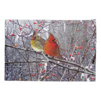 Cardinal Christmas Pillow Cases