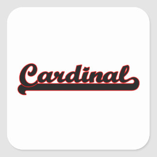 Cardinal Classic Job Design Square Sticker