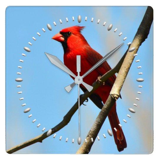 Cardinal Clock by Julie Everhart