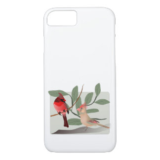 Cardinal Couple in the Tree Branches iPhone 8/7 Case
