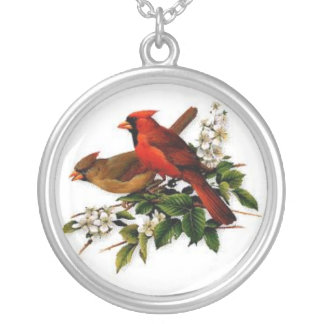 Cardinal Couple Necklace