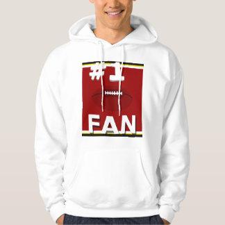Cardinal de passioné du football #1 et sweatshirt
