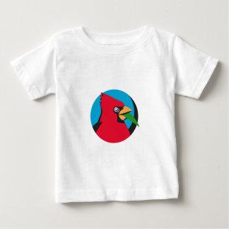 Cardinal Head Blade Grass Circle Retro Baby T-Shirt