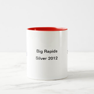 cardinal helmet.gif, Silver 2012, Big Rapids, C... Two-Tone Coffee Mug