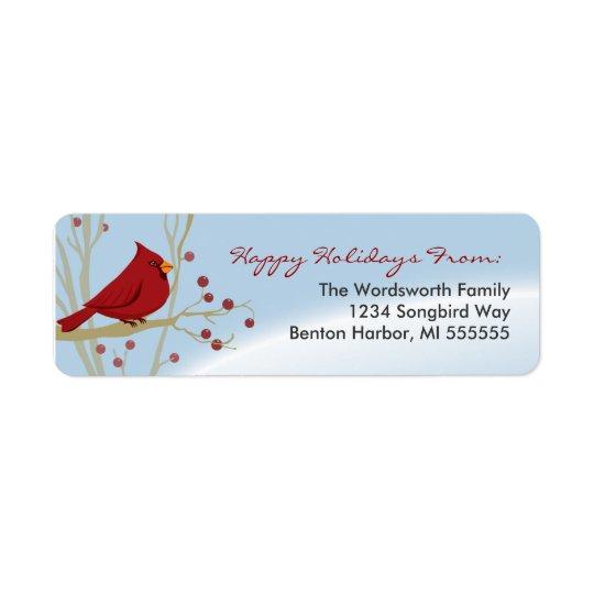 Cardinal Holiday Return Address Labels