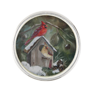 Cardinal Home Sweet Home Lapel Pin