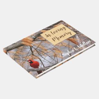 Cardinal In Loving Memory Guest Book
