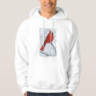 Cardinal in Snow Hoodie