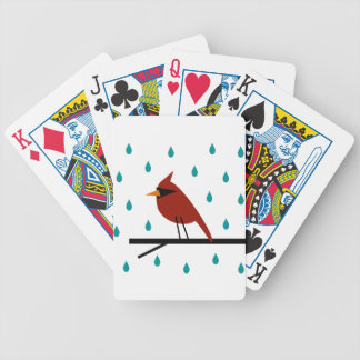 Cardinal in the Rain Bicycle Playing Cards