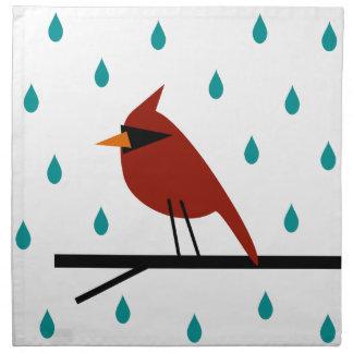 Cardinal in the Rain Napkin