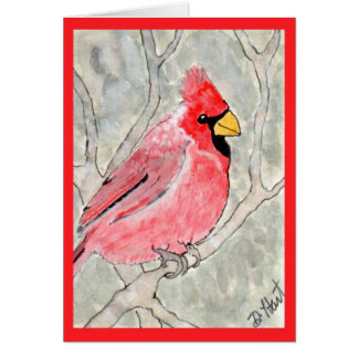 Cardinal in the Snow Card