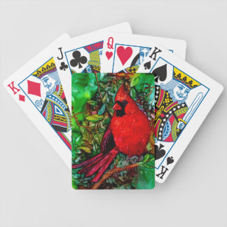 Cardinal In the Tree Bicycle Playing Cards