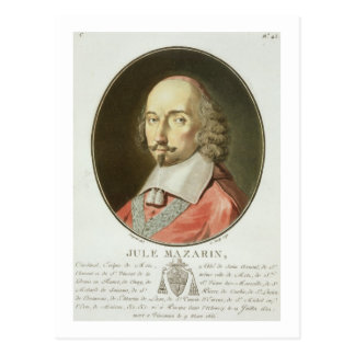 Cardinal Jules Mazarin (1602-61) from 'Portraits d Postcard