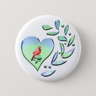 Cardinal Lover 2 Inch Round Button