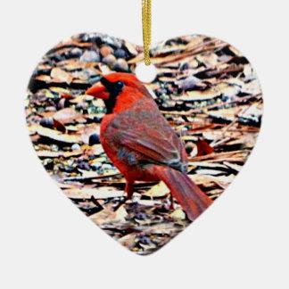 Cardinal (Male) Ceramic Ornament