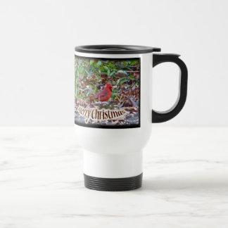 Cardinal Merry Christmas Items Travel Mug