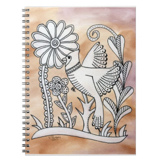 Cardinal, Mexican Bark Style Notebooks