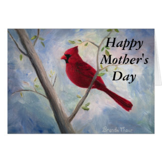 cardinal Mother's Day Card