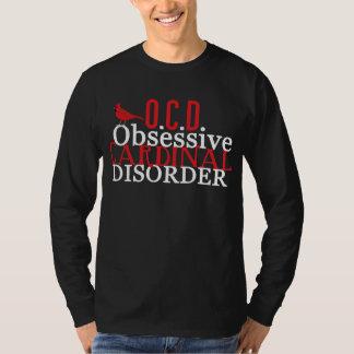 Cardinal Obsessed Funny Dark T-Shirt