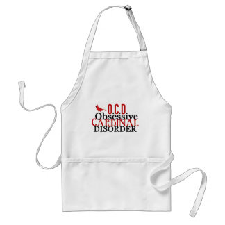 Cardinal Obsessed Funny Standard Apron