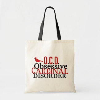 Cardinal Obsessed Funny Tote Bag