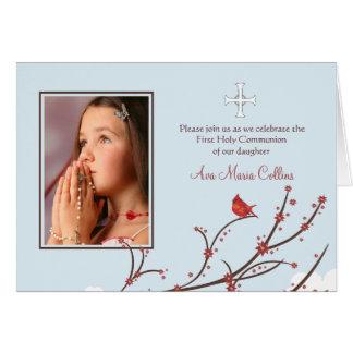 Cardinal on a Branch Folded Photo Card