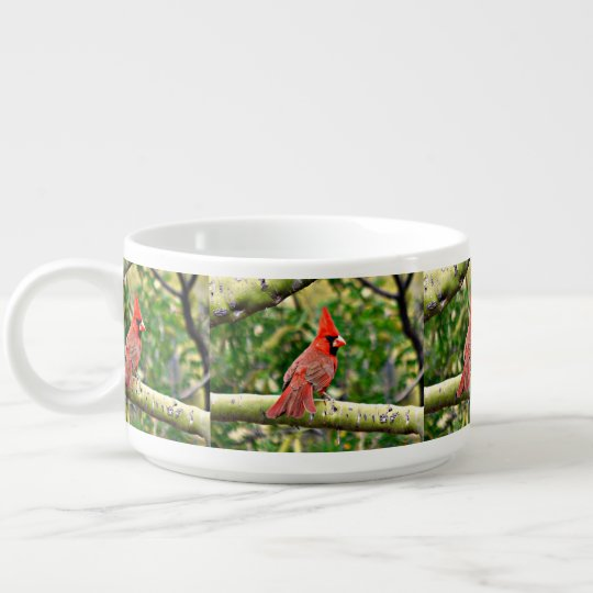 Cardinal on a Limb Chili Bowl