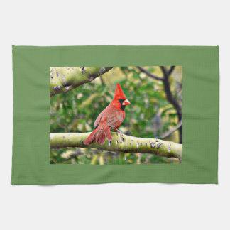 Cardinal on a Limb Kitchen Towel