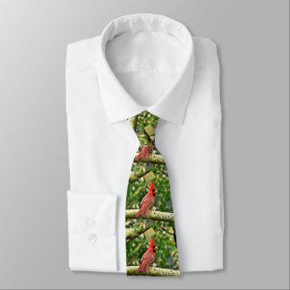 Cardinal on a Limb Men's Tie