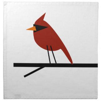 Cardinal on a Limb Napkin