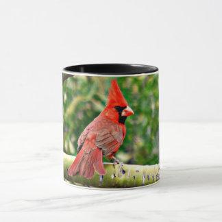 Cardinal on a Limb Ringer Coffee Cup
