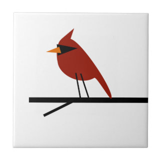 Cardinal on a Limb Tile