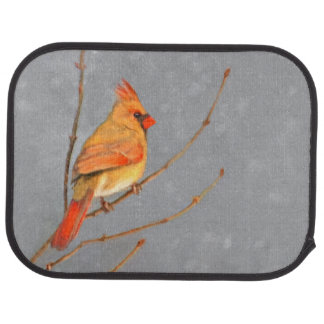 Cardinal on Branch Car Mat